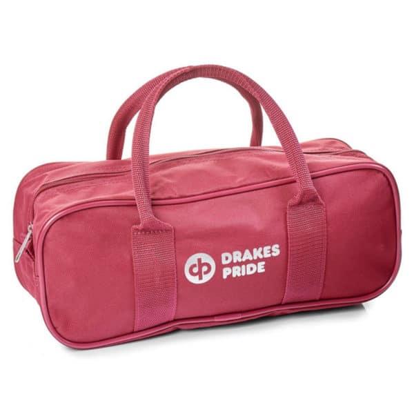 Drakes Pride 2 Bowl Jack Zipped Bag Maroon Red