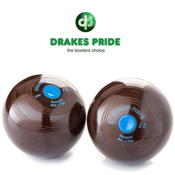 Drakes Pride Richmond Brown Crown Green Bowls