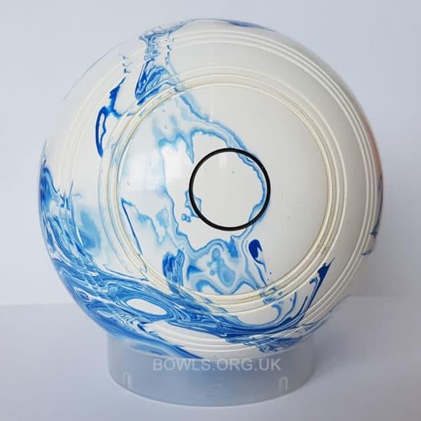 Metrolux Tornado Line Marble Bowls STD Blue White Back
