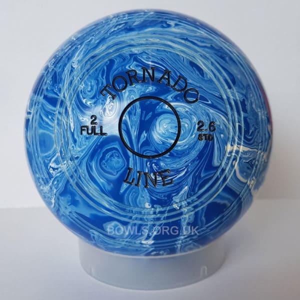 Metrolux Tornado Line Marble Bowls STD Blue White Front