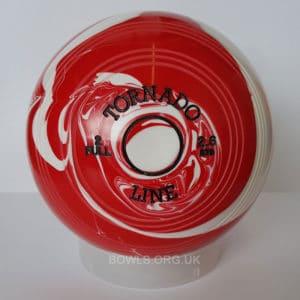 Metrolux Tornado Line Marble Bowls STD Red White Front
