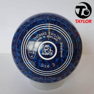 Taylor Ace Progrip Coloured Bowls Dark Blue Frog Stamp