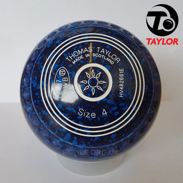 Taylor Ace Progrip Coloured Bowls Dark Blue Sun Stamp