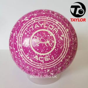 Taylor Ace Progrip Coloured Bowls Pink White Ant