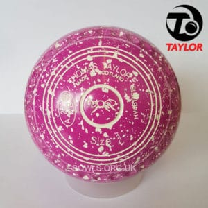 Taylor Ace Progrip Coloured Bowls Pink White Ant Stamp