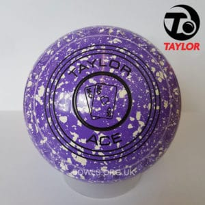 Taylor Ace Progrip Coloured Bowls Purple White Cards