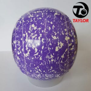 Taylor Ace Progrip Coloured Bowls Purple White Cards Side