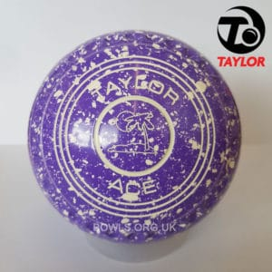 Taylor Ace Progrip Coloured Bowls Purple White Island