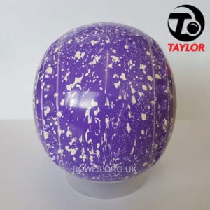 Taylor Ace Progrip Coloured Bowls Purple White Island Side