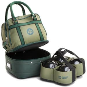 drakes pride mini bowls bag green with carrier