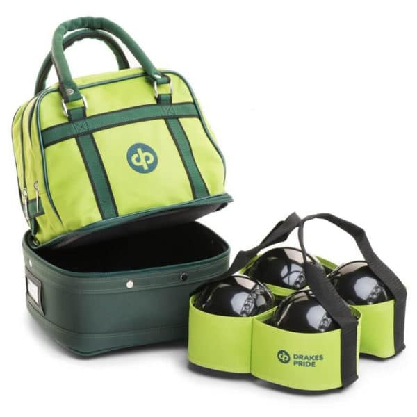drakes pride mini bowls bag lime with carrier