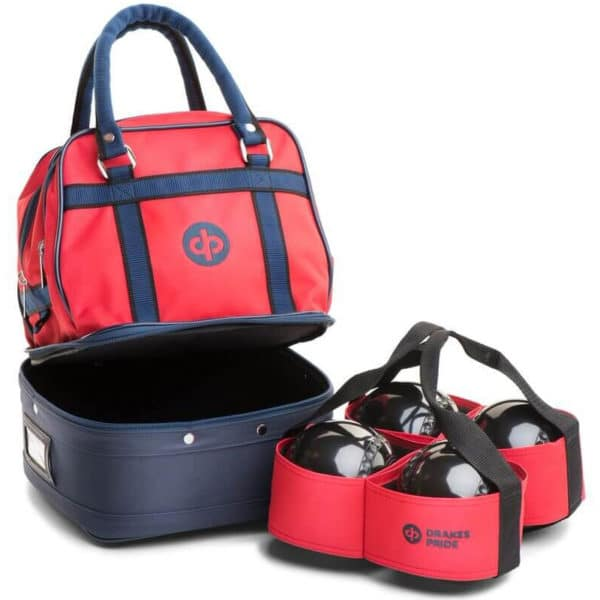 drakes pride mini bowls bag red with carrier