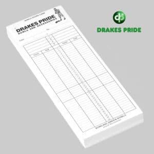 Drakes Pride Score Cards