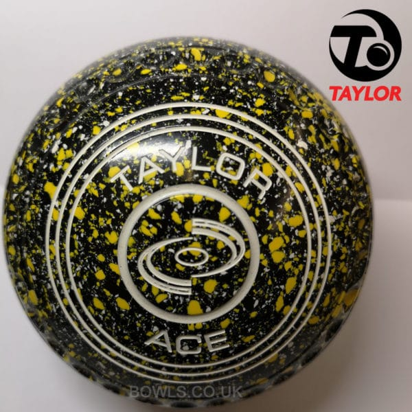 taylor ace coloured bowls black yellow white size 2